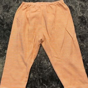 Gymboree baby pants orange/white 12-18 months